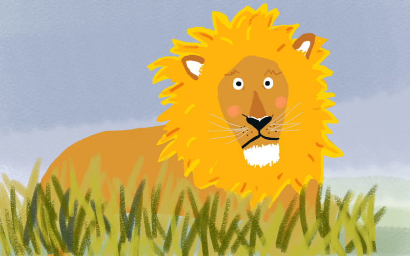 Der nachdenkliche Löwe Ludwig