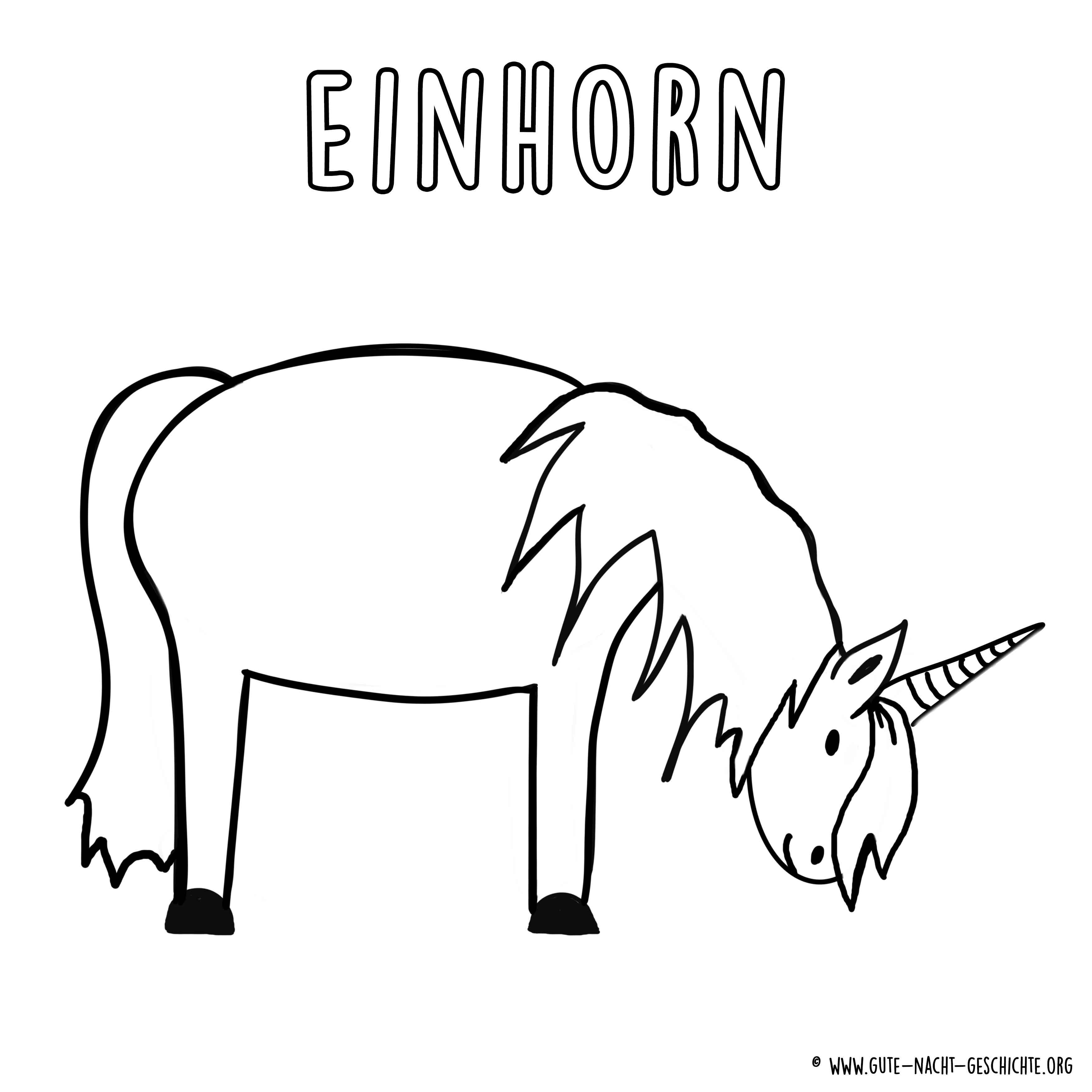 Ausmalbilder Einhorn zum Ausdrucken - kostenlose Malvorlagen