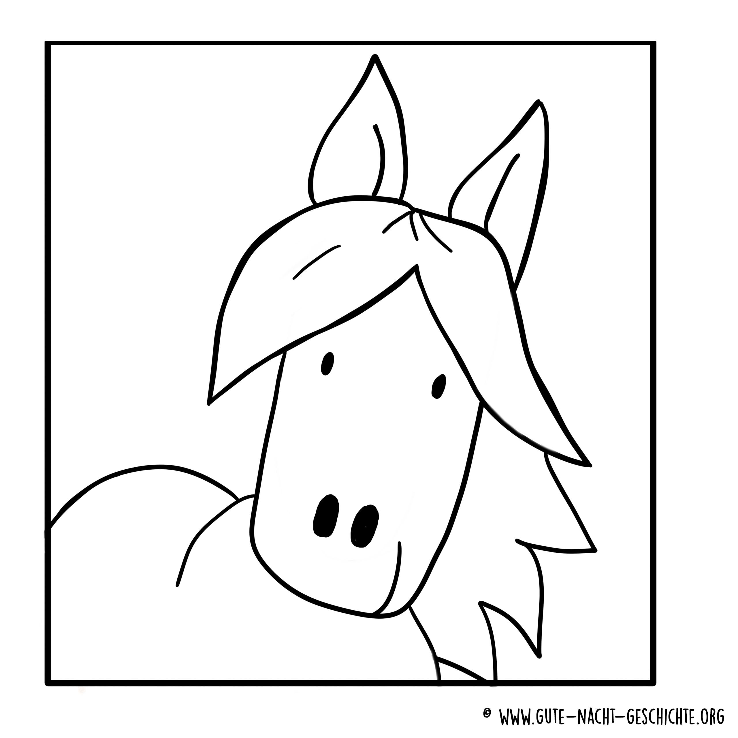 Pferde Ausmalbilder zum Ausdrucken - kostenlose Malvorlagen