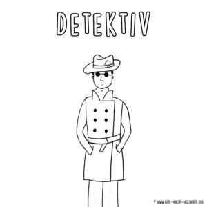 Detektiv Ausmalbild