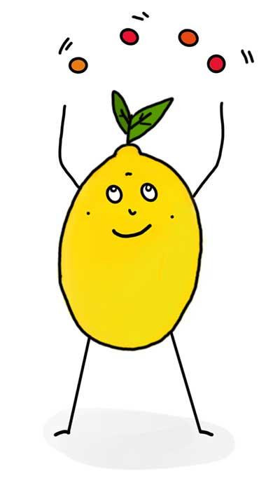 Kinderunterhaltung bei der Zitronenbande