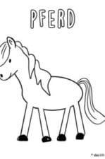 Pferde Ausmalbilder zum Ausdrucken – kostenlose Malvorlagen