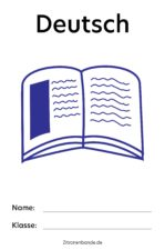 Deutsch Deckblatt zum Ausdrucken – kostenlos runterladen und drucken