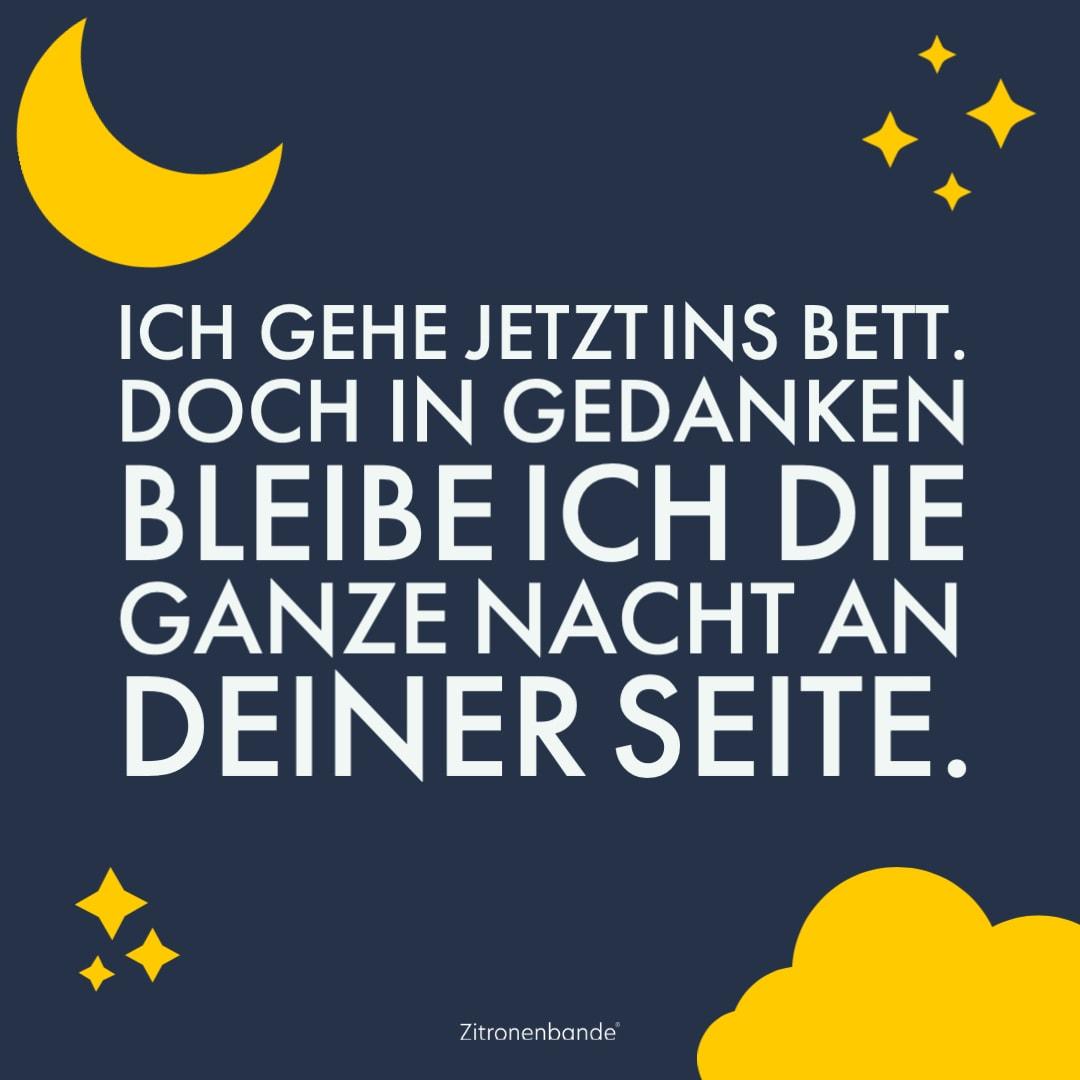 Sprüche zur nacht schöne Gute Nacht