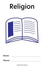Religion Deckblatt zum Ausdrucken – kostenlos runterladen und drucken