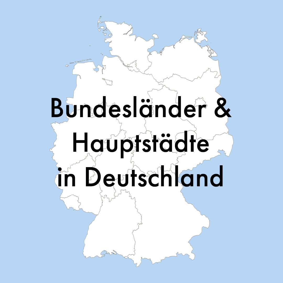 Liste hauptstadt bundesländer mit deutschland Bundesländer Deutschland